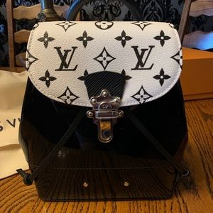 NWT LOUIS VUITTON Black White hot spring BACKPACK